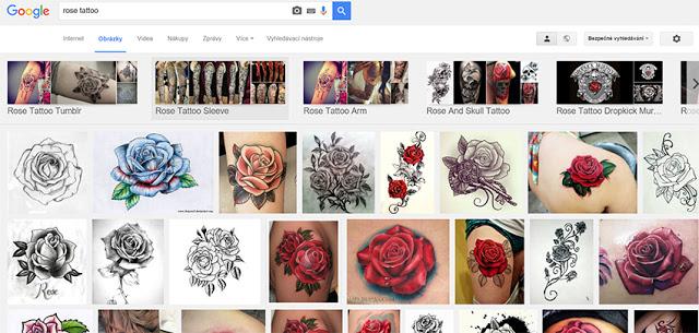 komerční motiv ruže internet